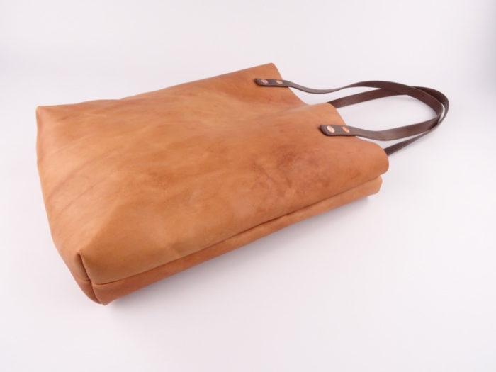 Lederen Tote Bag Natuur